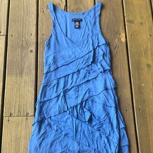 Blue Bodycon Ruffled Dress